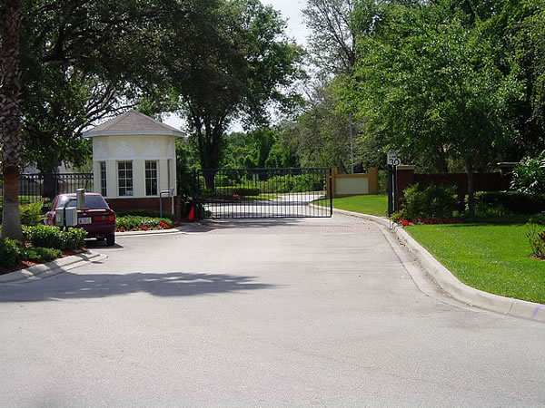 Florida Villa Gated Entrance
